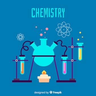 Fond de chimie