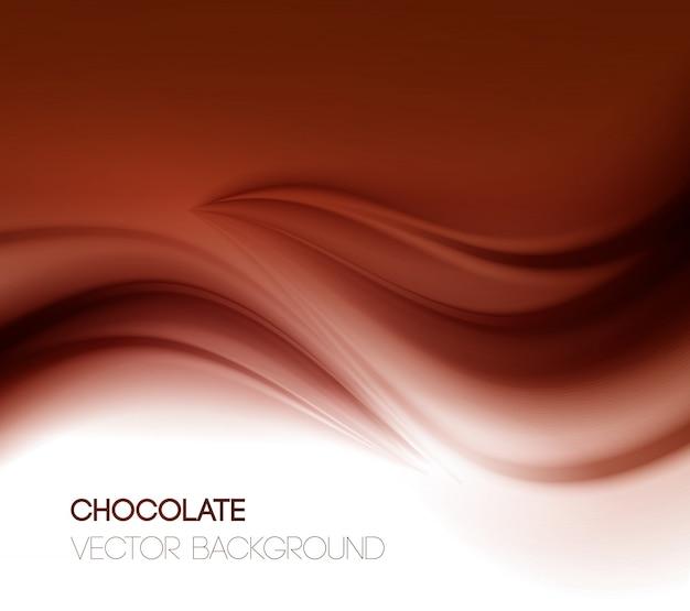Fond de chocolat abstrait