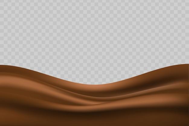 Fond de chocolat liquide ondulé