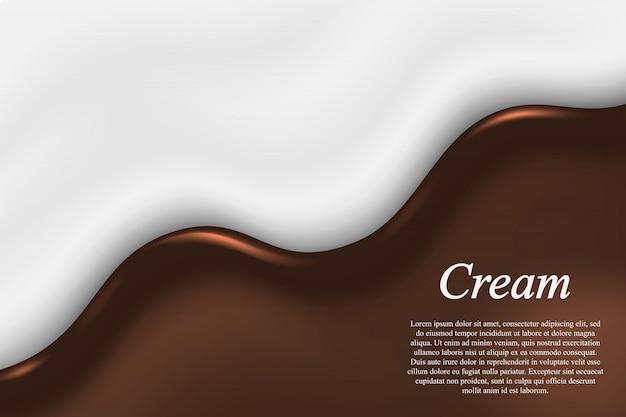 Fond de chocolat liquide