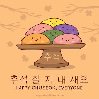 Fond de chuseok heureux