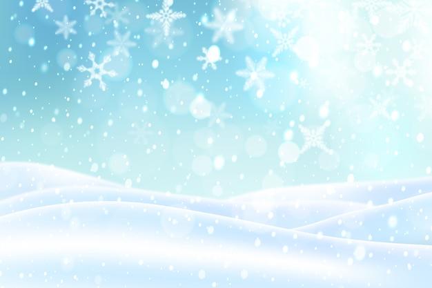 Fond de chute de neige réaliste