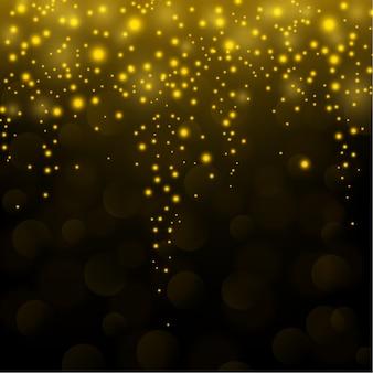 Fond de chute de paillettes d'or scintillant
