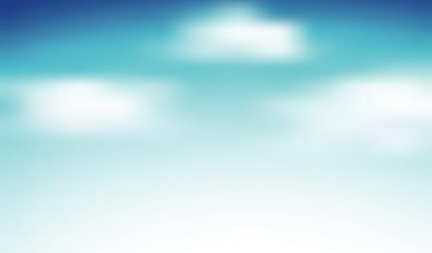 Fond de ciel avec beaucoup de nuages duveteux