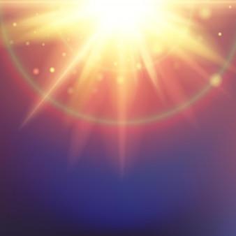 Fond de ciel bleu ensoleillé