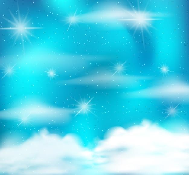 Fond de ciel clair abstrait