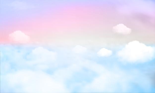 Fond de ciel et couleur pastel