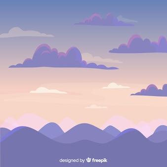 Fond de ciel dessiné à la main