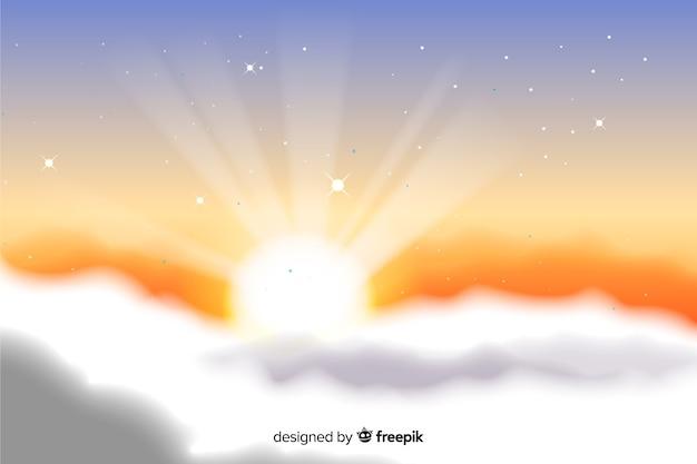 Fond de ciel dramatique