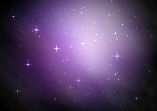 Fond de ciel étoilé de galaxie