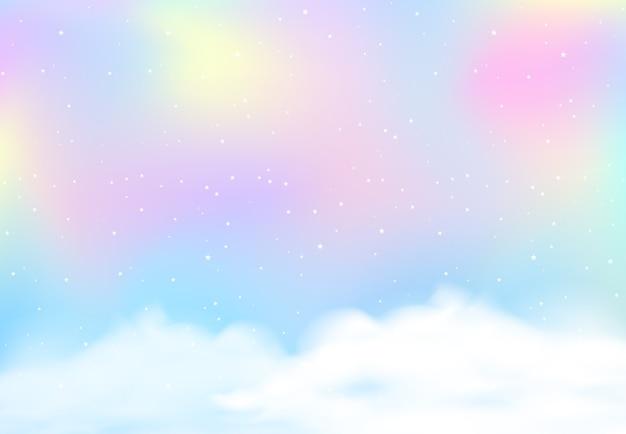 Fond de ciel flou pastel arc-en-ciel
