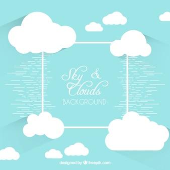 Fond de ciel et de nuages