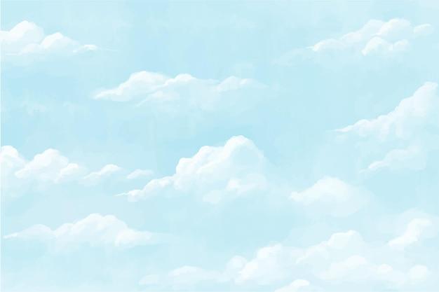 Fond de ciel pastel aquarelle peint à la main