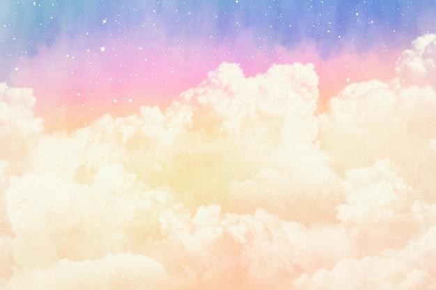 Fond De Ciel Pastel Aquarelle Peint à La Main Vecteur gratuit