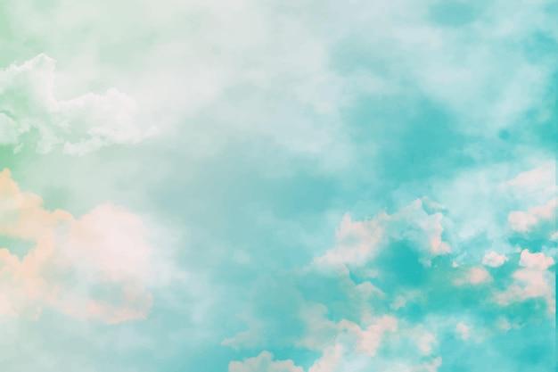 Fond de ciel pastel aquarelle
