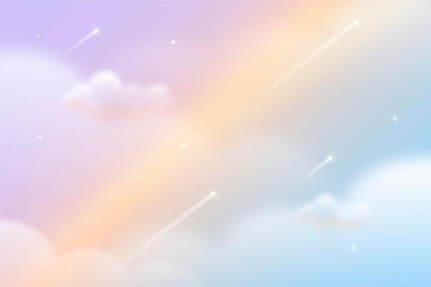 Fond De Ciel Pastel Dégradé Vecteur gratuit