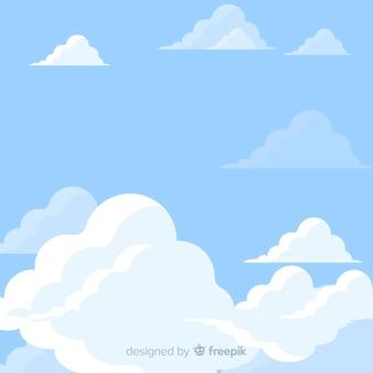 Fond de ciel plat