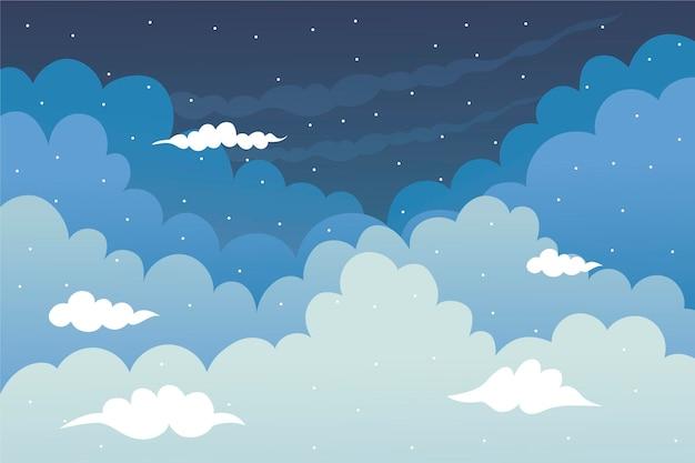 Fond de ciel pour les appels vidéo