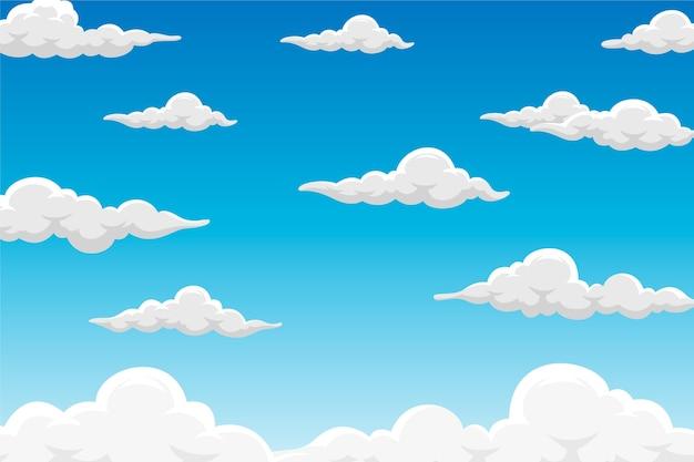 Fond de ciel pour vidéoconférence