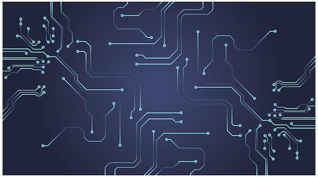Fond de circuit informatique