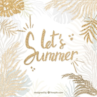 Fond de citation élégante de l'été