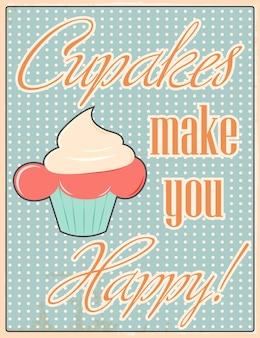 Fond de citations de cupcake