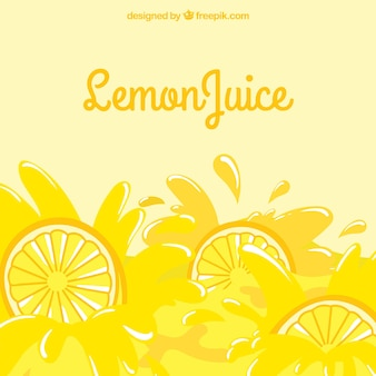 Fond d'une citronnade savoureuse