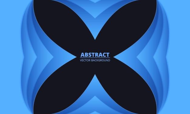Fond clair bleu doux avec des formes de flèches coupées en papier abstrait