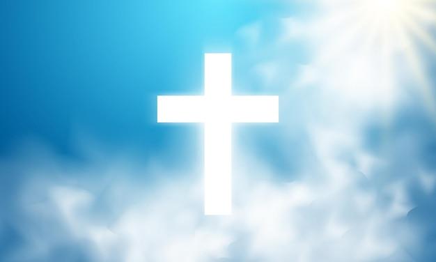 Fond clair divin dans le ciel