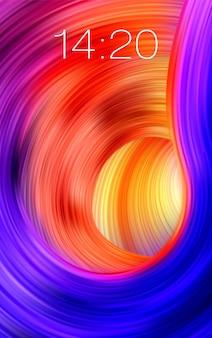 Fond clair de flux coloré. fond d'écran réaliste de temps de téléphone.