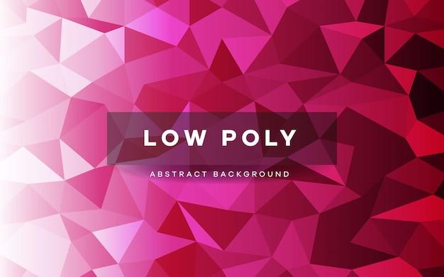Fond clair motif polygonale rose