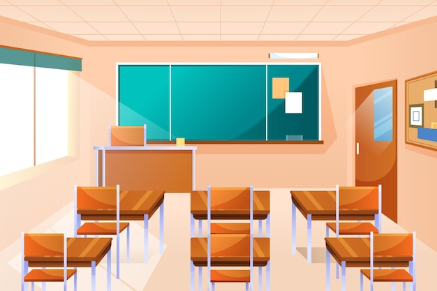 Fond de classe vide pour la vidéoconférence