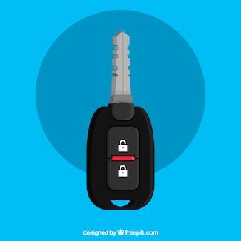 Fond de clé de voiture plate