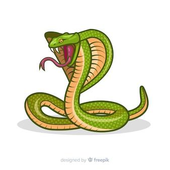 Fond de cobra de dessin animé