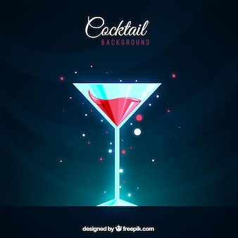 Fond de cocktail brillant dans un design plat