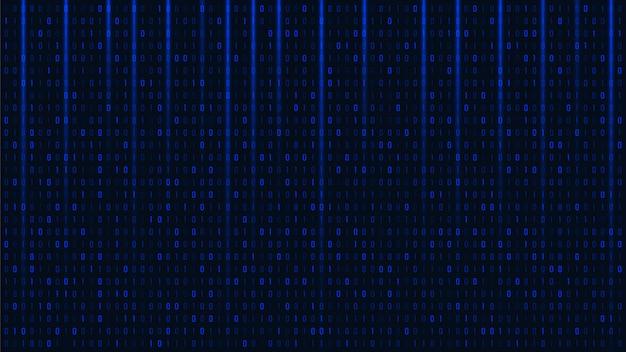 Fond de code binaire abstrait