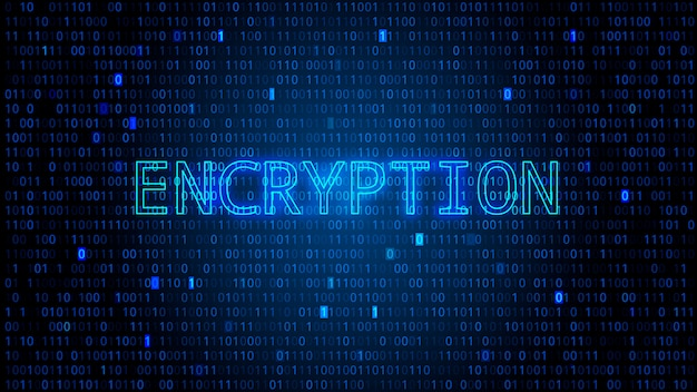 Fond de code binaire numérique avec chiffres en surbrillance. concept de cryptage