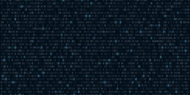Fond de code binaire avec programmation logicielle