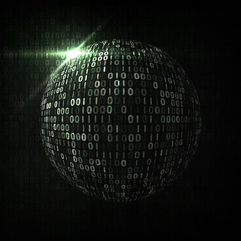 Fond de code numérique, illustration abstraite. le concept de mondialisation