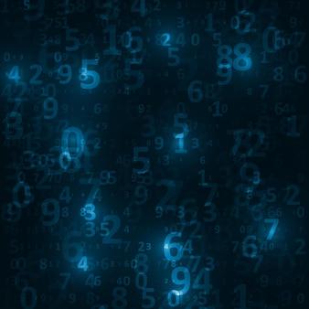 Fond de code numérique, illustration abstraite