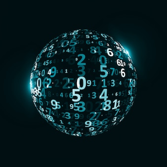 Fond de code numérique