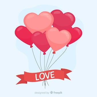 Fond coeur de ballons