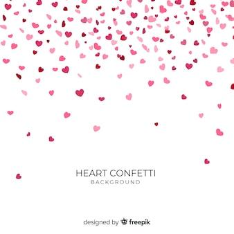 Fond de coeur de confettis