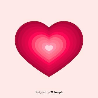 Fond de coeur en couches