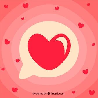 Fond de coeur dessiné à la main