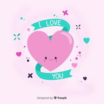 Fond coeur dessiné à la main