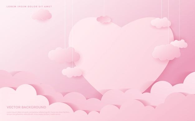 Fond De Coeur Mignon. Vecteur Premium