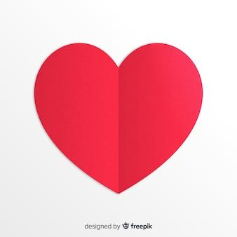 Fond de coeur de papier