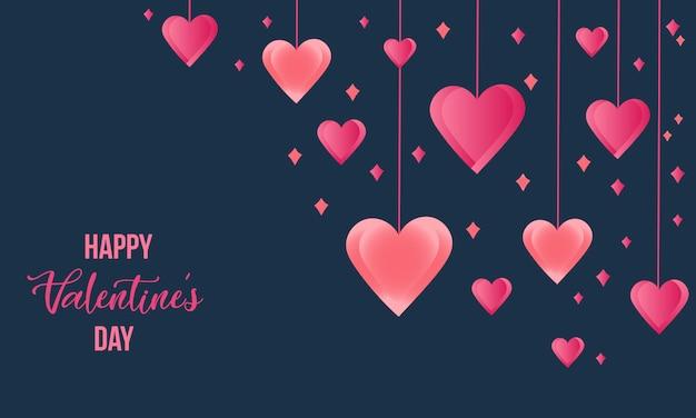 Fond de coeur pour carte de voeux, bannière et affiche. fond de saint valentin.