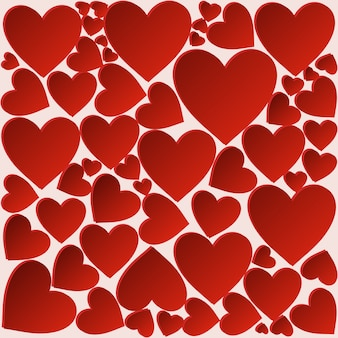 Fond de coeur romantique